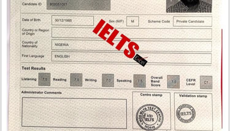 sample of the ielts past results of bivent students