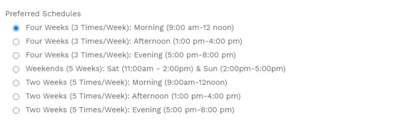 a screenshot of Bivent's IELTS training schedule in abuja